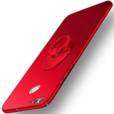 Coque Plastique Rigide Mat et Support Bague Anneau pour Huawei Nova 2 Plus Rouge