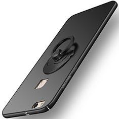 Coque Plastique Rigide Mat et Support Bague Anneau pour Huawei P10 Lite Noir