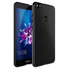 Coque Plastique Rigide Mat et Support Bague Anneau pour Huawei P8 Lite (2017) Noir