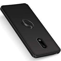 Coque Plastique Rigide Mat et Support Bague Anneau pour Nokia 6 Noir