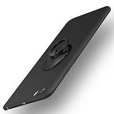 Coque Plastique Rigide Mat et Support Bague Anneau pour Xiaomi Mi 5 Noir
