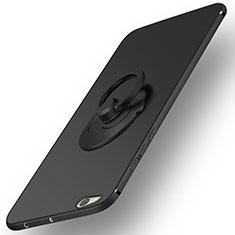 Coque Plastique Rigide Mat et Support Bague Anneau pour Xiaomi Mi 5C Noir