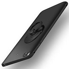 Coque Plastique Rigide Mat et Support Bague Anneau pour Xiaomi Mi 5S Noir