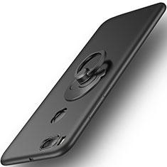 Coque Plastique Rigide Mat et Support Bague Anneau pour Xiaomi Mi A1 Noir