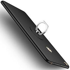 Coque Plastique Rigide Mat et Support Bague Anneau pour Xiaomi Mi Max 2 Noir