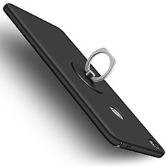 Coque Plastique Rigide Mat et Support Bague Anneau pour Xiaomi Mi Max Noir