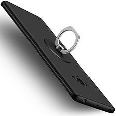 Coque Plastique Rigide Mat et Support Bague Anneau pour Xiaomi Mi Note 2 Special Edition Noir
