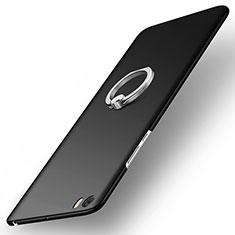 Coque Plastique Rigide Mat et Support Bague Anneau pour Xiaomi Mi Note Noir