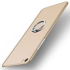 Coque Plastique Rigide Mat et Support Bague Anneau pour Xiaomi Mi Note Or