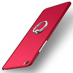 Coque Plastique Rigide Mat et Support Bague Anneau pour Xiaomi Mi Note Rouge
