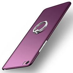 Coque Plastique Rigide Mat et Support Bague Anneau pour Xiaomi Mi Note Violet