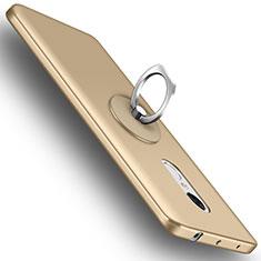 Coque Plastique Rigide Mat et Support Bague Anneau pour Xiaomi Redmi Note 4 Or