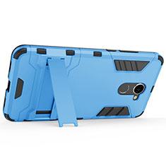 Coque Plastique Rigide Mat et Support pour Huawei Enjoy 7 Plus Bleu
