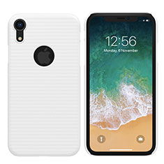 Coque Plastique Rigide Mat M02 pour Apple iPhone XR Blanc