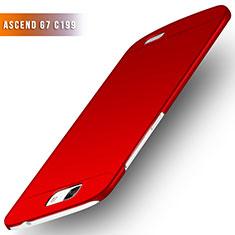 Coque Plastique Rigide Mat M02 pour Huawei Ascend G7 Rouge