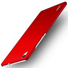 Coque Plastique Rigide Mat M02 pour Huawei Ascend P7 Rouge