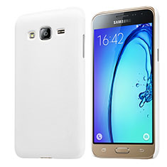 Coque Plastique Rigide Mat M02 pour Samsung Galaxy Amp Prime J320P J320M Blanc