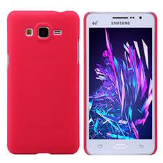 Coque Plastique Rigide Mat M02 pour Samsung Galaxy Grand Prime SM-G530H Rouge