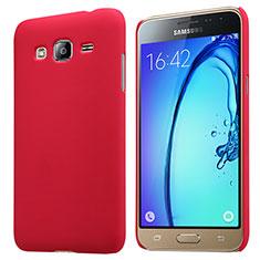 Coque Plastique Rigide Mat M02 pour Samsung Galaxy J3 (2016) J320F J3109 Rouge