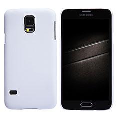 Coque Plastique Rigide Mat M02 pour Samsung Galaxy S5 G900F G903F Blanc