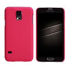 Coque Plastique Rigide Mat M02 pour Samsung Galaxy S5 G900F G903F Rouge
