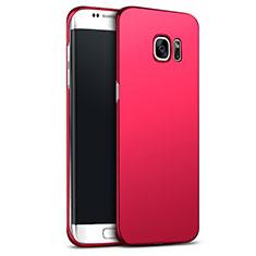 Coque Plastique Rigide Mat M02 pour Samsung Galaxy S6 Edge+ Plus SM-G928F Rouge
