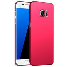 Coque Plastique Rigide Mat M02 pour Samsung Galaxy S7 G930F G930FD Rouge