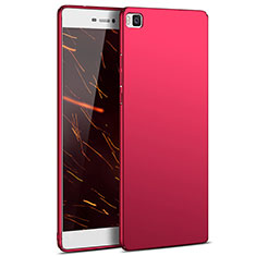 Coque Plastique Rigide Mat M03 pour Huawei P8 Rouge