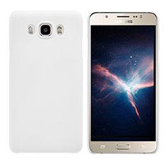 Coque Plastique Rigide Mat M03 pour Samsung Galaxy J7 (2016) J710F J710FN Blanc