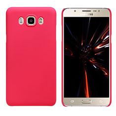 Coque Plastique Rigide Mat M03 pour Samsung Galaxy J7 (2016) J710F J710FN Rouge