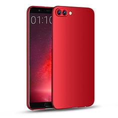 Coque Plastique Rigide Mat M04 pour Huawei Honor V10 Rouge