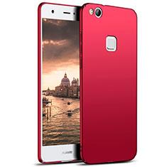 Coque Plastique Rigide Mat M04 pour Huawei P8 Lite (2017) Rouge