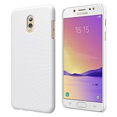 Coque Plastique Rigide Mat M04 pour Samsung Galaxy J7 Plus Blanc