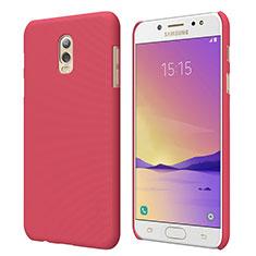 Coque Plastique Rigide Mat M04 pour Samsung Galaxy J7 Plus Rouge