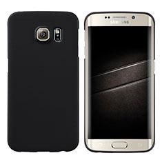 Coque Plastique Rigide Mat M04 pour Samsung Galaxy S6 Edge SM-G925 Noir