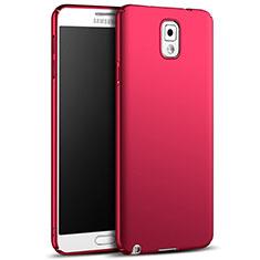 Coque Plastique Rigide Mat M05 pour Samsung Galaxy Note 3 N9000 Rouge