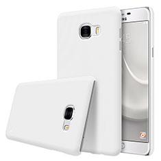Coque Plastique Rigide Mat M08 pour Samsung Galaxy C7 SM-C7000 Blanc