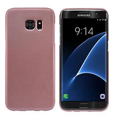 Coque Plastique Rigide Mat M10 pour Samsung Galaxy S7 Edge G935F Or Rose