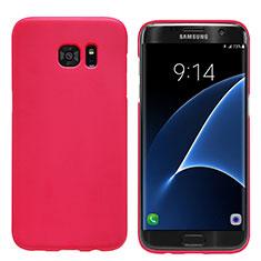Coque Plastique Rigide Mat M10 pour Samsung Galaxy S7 Edge G935F Rouge