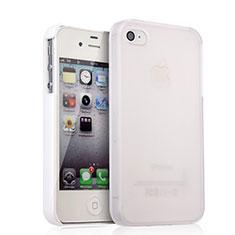 Coque Plastique Rigide Mat pour Apple iPhone 4 Blanc