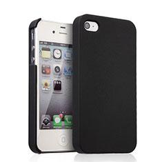 Coque Plastique Rigide Mat pour Apple iPhone 4 Noir
