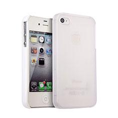 Coque Plastique Rigide Mat pour Apple iPhone 4S Blanc