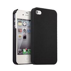 Coque Plastique Rigide Mat pour Apple iPhone 4S Noir