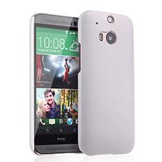 Coque Plastique Rigide Mat pour HTC One M8 Blanc