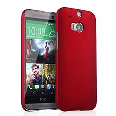 Coque Plastique Rigide Mat pour HTC One M8 Rouge