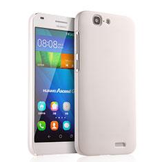 Coque Plastique Rigide Mat pour Huawei Ascend G7 Blanc