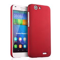 Coque Plastique Rigide Mat pour Huawei Ascend G7 Rouge