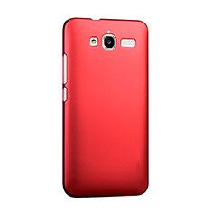 Coque Plastique Rigide Mat pour Huawei Ascend GX1 Rouge
