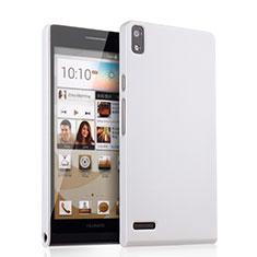 Coque Plastique Rigide Mat pour Huawei Ascend P6 Blanc