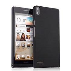 Coque Plastique Rigide Mat pour Huawei Ascend P6 Noir